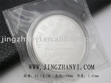 souvenir round metal coin with customized logo can be a promotional gift