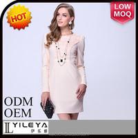 2014 fashion knit dress, woman ivory white new model frocks dresses