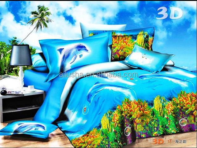 무료 샘플 바다 돌고래 인쇄 멕시코면 귀여운 아기 차원 침대 ...