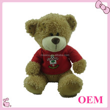 2015 stuffed animal toys teddy bear with red T- shirt