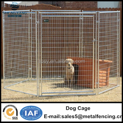 5ftx6ftx10ft outdoor welded wire mesh panel dog animal cage with gate