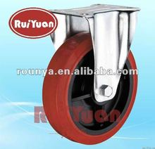 European type high load polyurethane fixed industrial casters