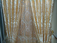 European style gold stamp blackout curtain