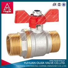 lockable full flow flat lever handle male/female long threads ball valve