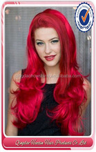 Wholesale Fashion synthetic long red cosplay wigs