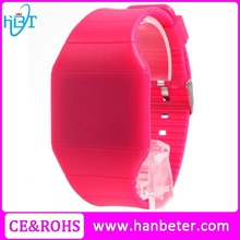 2015 promotional touch screen digital watch silicone led watch