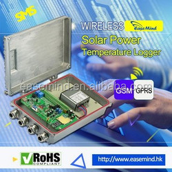 Hot Sale and Eco Friendly silvery Wireless Temperature Humidity Data Logger with Solar Power panel