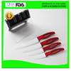 6 pcs professional plastic handle colored ceramic kitchen knife