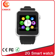2015 hot new product touch screen watch mobile phone with 2.0 camera and 2g single sim card