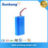 CE FCC MSDS approved cylinder 18650 3.6 volt 4400mah li-ion battery pack for electric toy
