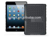 wholesale! 2014new arrival design low factory price for ipad air case hybrid kickstand hard cover case for ipad 5 case