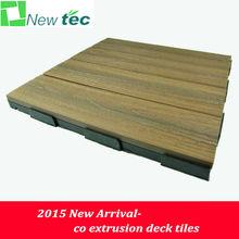 2015 promotion interlocking composite deck tiles, wpc tiles