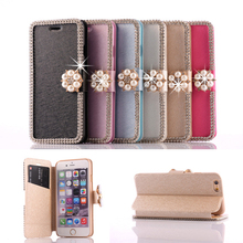For iPhone 6 Leather Stand Case,Diamond Flip PU Leather Pouch for iPhone 6