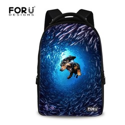 FOR U DESIGN Sea Diving Animals Waterproof Laptop Backpack Sports Bag Sale for Unisex Daily Carrying