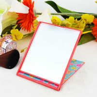 Dressing single side plastic free standing table mirror,makeup mirror,mirror side table