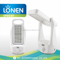 LONEN 60 LED battery operated rechargeable double-faced camping led lantern