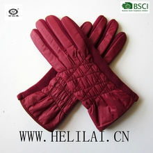 2016 A/W women touch screen fabric top and wool palm gloves