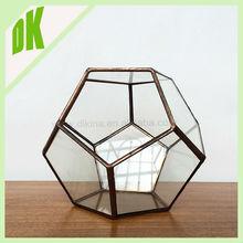 #~# Block Crystal Round Glass Vase   round, fish bowl design, thick lead wholesale geometric giant round glass bowl vase