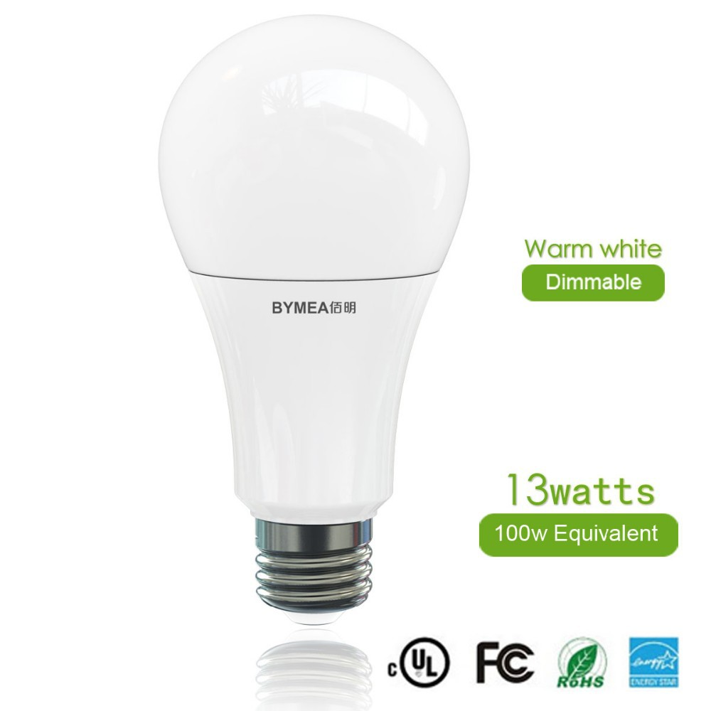Best price dimmable led light bulbs 100w equivalent a21 13w 120v e26 ul energy star listed Led light bulb cost
