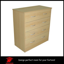 Home Furniture Bedroom Furniture Oak Light Chest of Drawers-4 Drawers