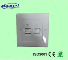 2 Port face plate rj45 faceplate wall outlet network information outlet