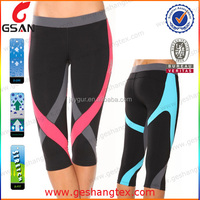 Ladies Gymwear Fitted Capri Pants Exercise Tight Pants