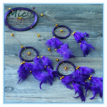 Purple Feather Dream Catcher Craft Car Accessories Car Decor Wedding Gift Wall Decor Home Decor