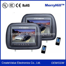 Headrest/ Pillow/ Back Seat 7 Inch 10 Inch TFT LCD Car TV Monitor With RCA Video Input