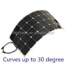 100W Flexible Solar Panel, 100 Watt Monocrystalline solar panel for RVs, Boats, Cabins