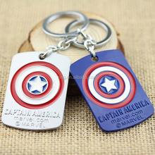 Captain America Shield Pendant Metal Keychain Superhero Jewelry Gifts