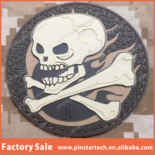 Custom 3D PVC SKULL & BONES TACTICAL USA ARMY MILITARY MORALE ARID DESERT Qibla Direction Patch with Velcro Back