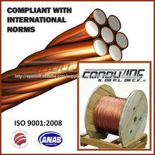 Cable de acero revestido de cobre