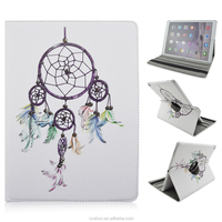 White Skin Dream Catcher Design 12.9inch Folio Stand 360 Rotating PU Leather Cover Cases For iPad Pro Tablet