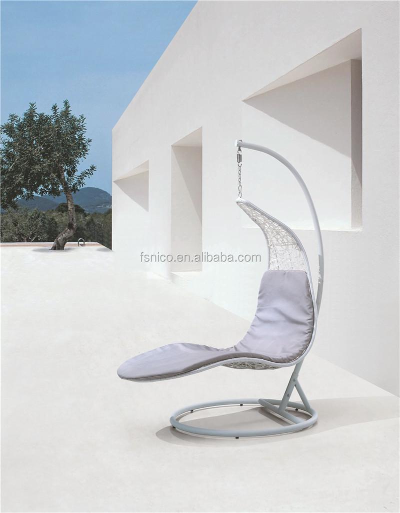 Rotin extérieur fauteuil suspendu