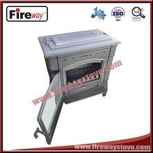 Modernist iron casting wood fireplace burning