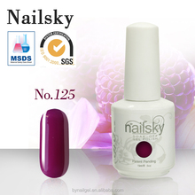 2016 Top recommend 15ml gel polish beauty nail gel color / soak off uv gel nail polish with MSDS