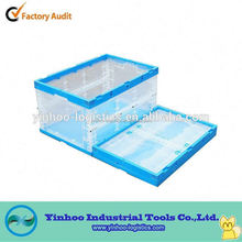 collapsible transparent clear plastic box with lid