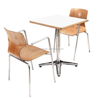 modern wooden square dining table and chairs good for 2 restaurant sets