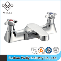 Foshan Double Handle Lavatory Water Container With Tap Cheap Water Faucets
