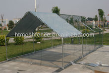Large Chain Link Dog Kennel with top roof cover