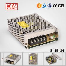 24 months warranty CE certificated single output 35w 24 volts s-35-24 switch mode power supply