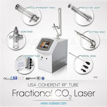 Fractional co2 laser machine with two kinds of heads