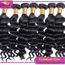 Qingdao hair factory wholesale brazilian loose deep wave weave hairstyles for black women