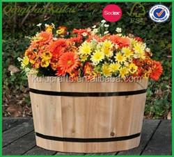 flower wooden storage bucket,display storage wooden bucket,decoration wooden wine bucket for sale