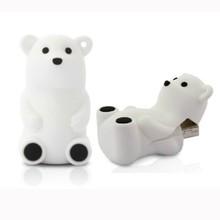 Popular Animal USB Pen Drive 2.0 White Polar Bear USB/1gb/2gb/4gb/8gb/16gb/32gb