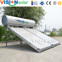 Flat plate collector solar pool heater