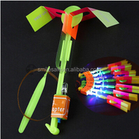 Wholesale 1700pcs Outdoor Toy Flying Saucer Helicopter Spin LED Light color bule light