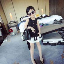 Wholesale manufacturers Children dress big skirt style piano music department girls