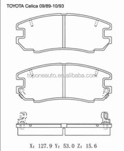 High Performance Brake Pad GDB293 For TOYOTA CELICA Convertible