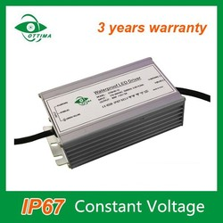 3 years warranty CE RoHS constant voltage 60w led driver waterproof IP67